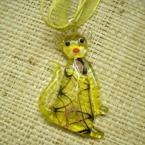Murano Glass Tiger Necklace